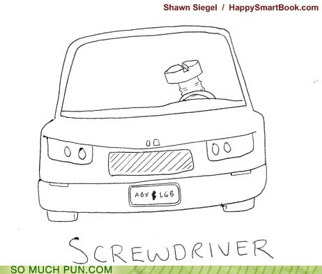 car,double meaning,driver,Hall of Fame,literalism,screw,screwdriver