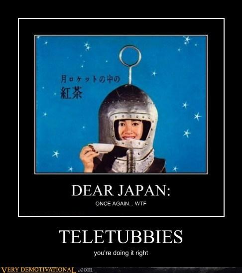 hilarious,Japan,space,teletubbies,wtf