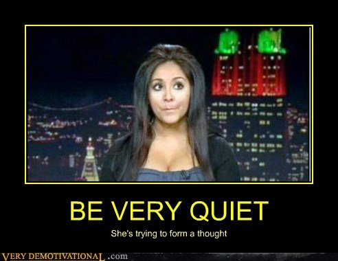 hilarious,impossible,snooki,thinking