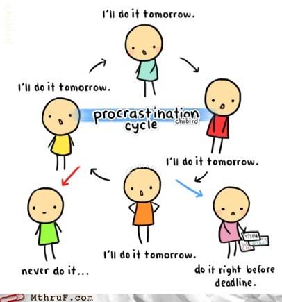 cycle of procrastination,g rated,monday thru friday,procrastination