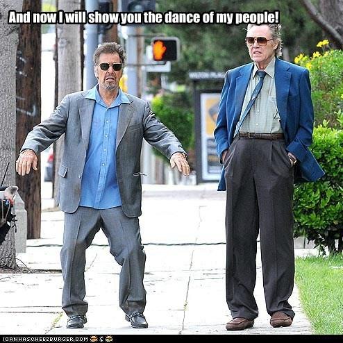 actor,al pacino,celeb,christopher walken,funny