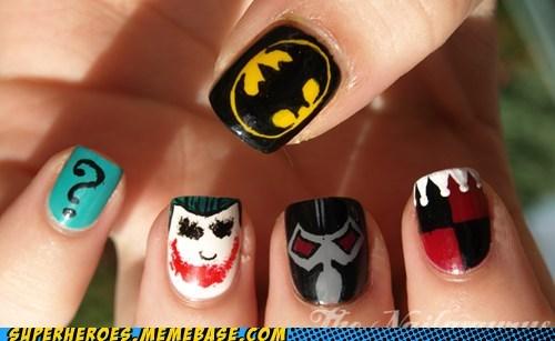 bane,batman,Harley Quinn,joker,nails,Random Heroics,Riddler,villains