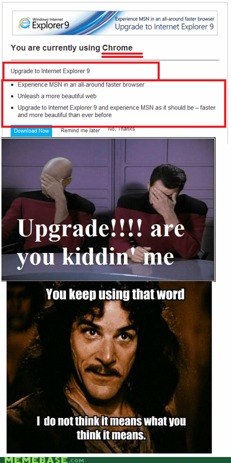 "Sure, Microsoft, ""Upgrade"""