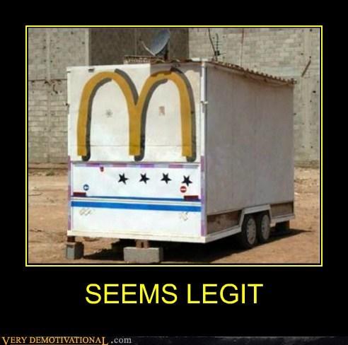hilarious,McDonald's,seems legit,trailers