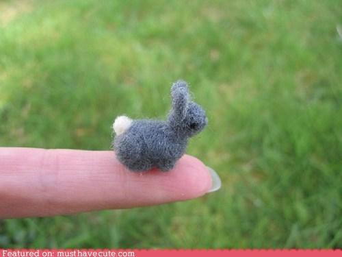 bunny,felt,miniature,needle felt,rabbit,tiny,wool