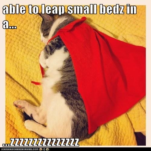 able to leap small bedz in a...  ...zzzzzzzzzzzzzzz
