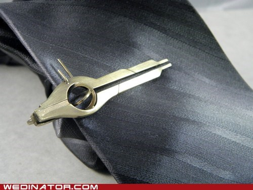 Mass Effect Wedding Tie Clip