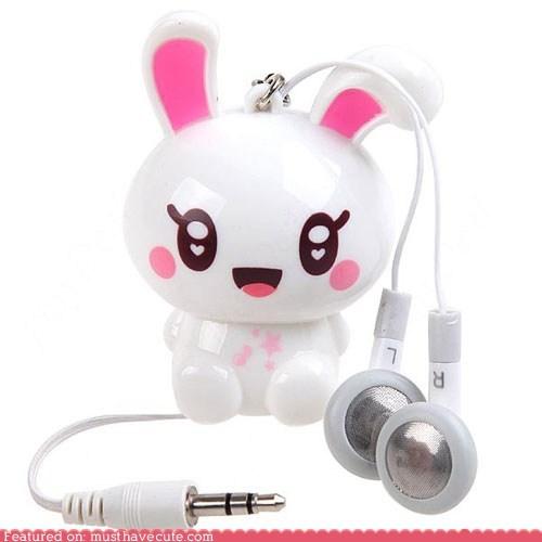 bunny,earphones,electronics,Music,rabbit,sound
