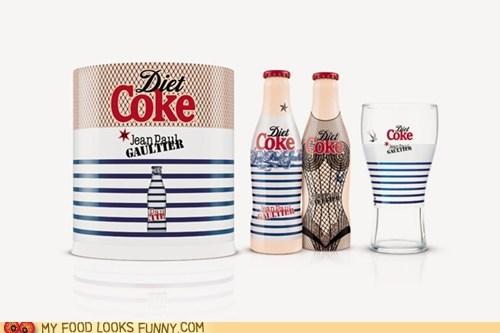 bottle,designer,diet coke,jean-paul gaultier,packaging