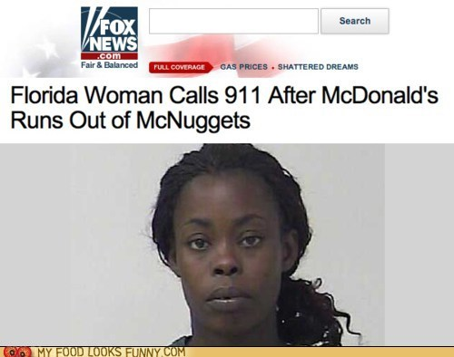 911,chicken nuggets,cops,emergency,McDonald's,mcnuggets,police