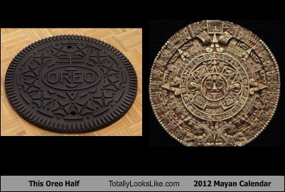 This Oreo Half Totally Looks Like 2012 Mayan Calendar