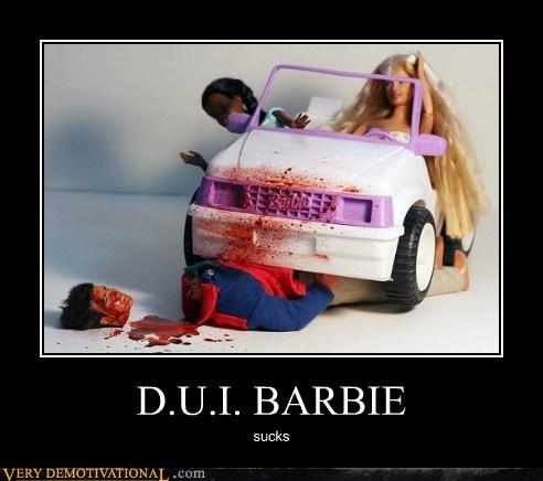 bad driver toys,Barbie,dui,hilarious