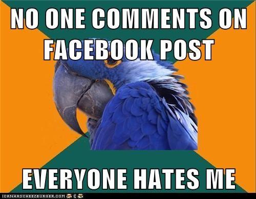 Animal Memes: Paranoid Parrot - Forever Alone