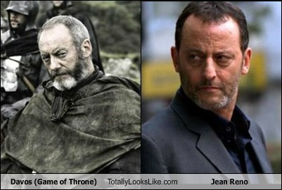 Davos (Game of Throne) Totally Looks Like Jean Reno