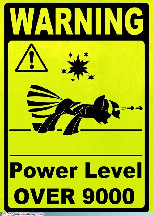 WARNING POWER LEVEL OVER 9000!