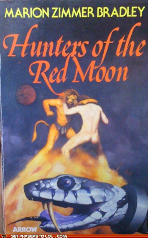 WTF Sci-Fi Book Covers: Hunters of the Red Moon