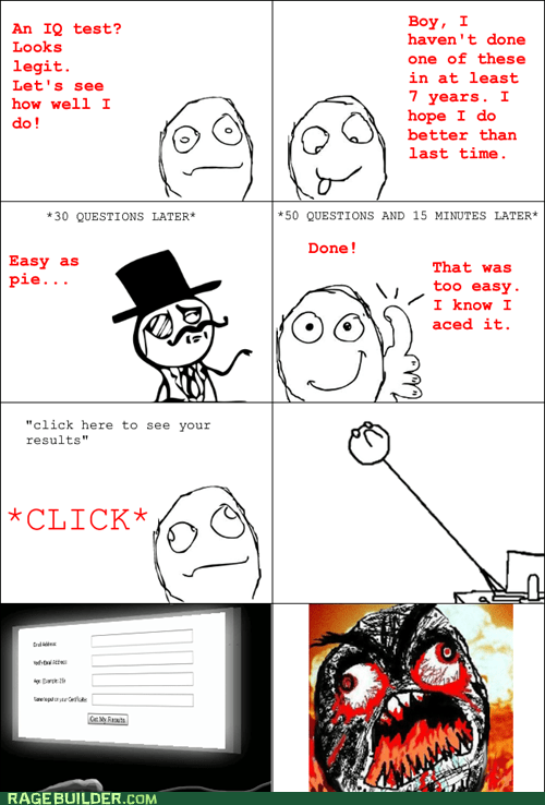 Rage Comics: Falling for That is an IQ Test in Itself