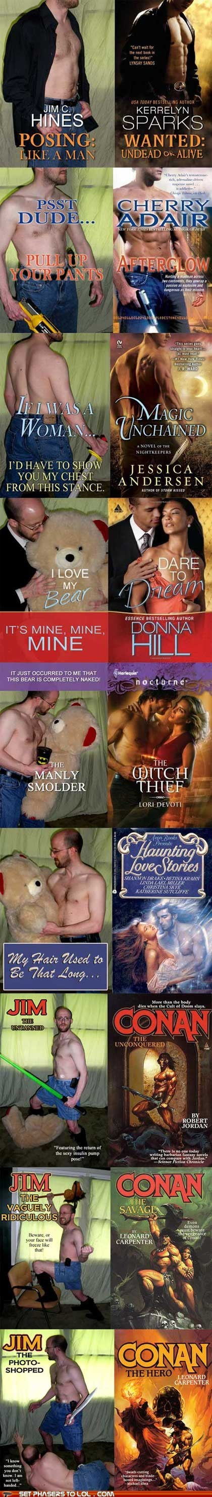 author,Awkward,best of the week,book covers,books,conan,fabio,fantasy,posing,romance novels,shirtless men