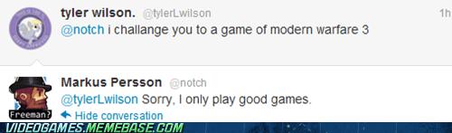 IRL,minecraft,Modern Warfare 3,notch,twitter
