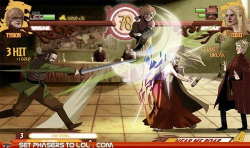 a song of ice and fire,cersei lannister,combo,fan art,fight,fighting games,Game of Thrones,mock up,round two,tyrion lannister,video games