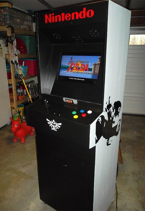 DIY Super Nintendo Arcade Cabinet of the Day