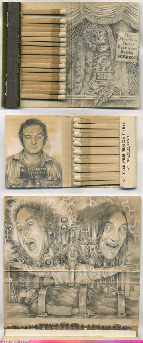 Incredible Pop Culture Graphite Matchbook Miniatures