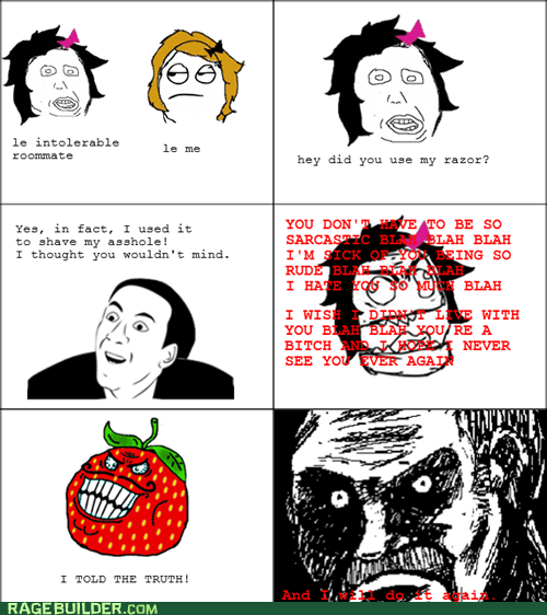 all that racket,Rage Comics,roommates,strawberry guy