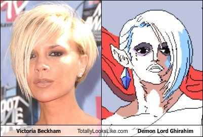 Victoria Beckham Totally Looks Like Demon Lord Ghirahim