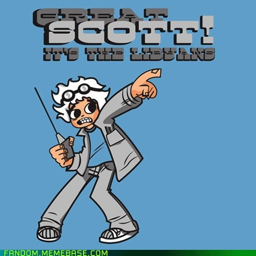back to the future,crossover,Doc Brown,FanArt,movies,scott pilgrim