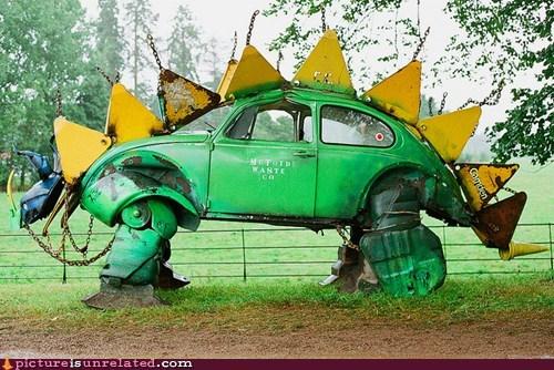 beatle,car,dinosaur,volkswagen,wtf