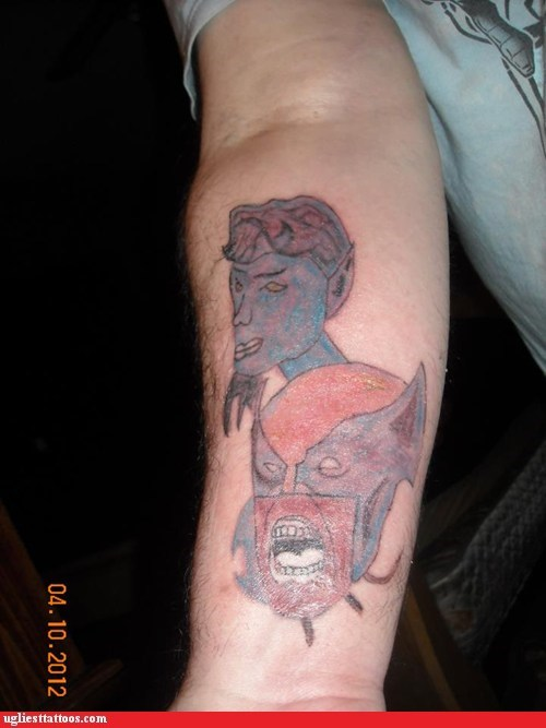Ugliest Tattoos: The Untalented X-Men