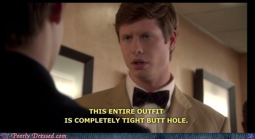compliments,outfit,television,workaholics