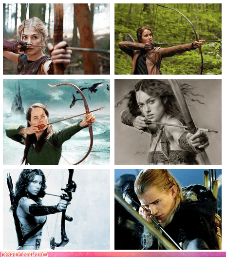 Hot Female Archers From Films