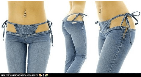 Thong-jeans