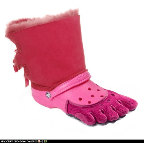 This Ugg-Croc-Toe-Shoe