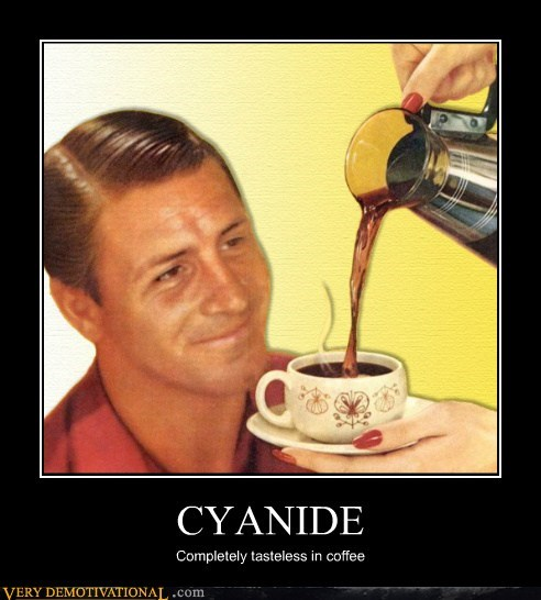 coffee,cyanide,hilarious,husband,tasteless,wife
