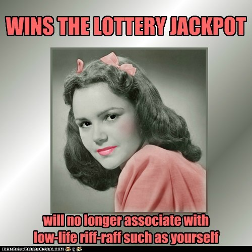 WINS THE LOTTERY JACKPOT