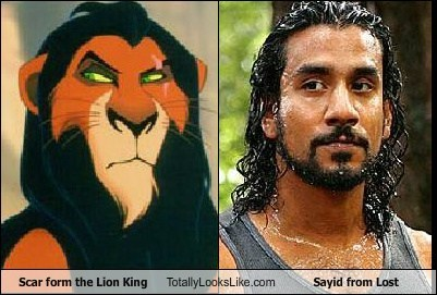 Scar From the Lion King Totally Looks Like Sayid from Lost (Naveen Andrews)