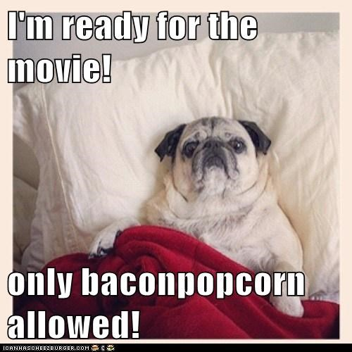 I'm ready for the movie!  only baconpopcorn allowed!
