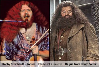 Robby Steinhardt - Kansas Totally Looks Like Hagrid (Robbie Coltrane) From Harry Potter