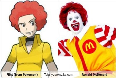 Flint (from Pokemon) Totally Looks Like Ronald McDonald