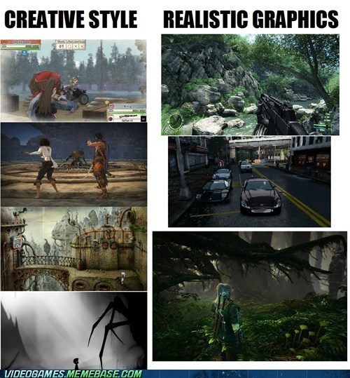 cant-decide,creative style,realistic graphics,video games,why-not-both