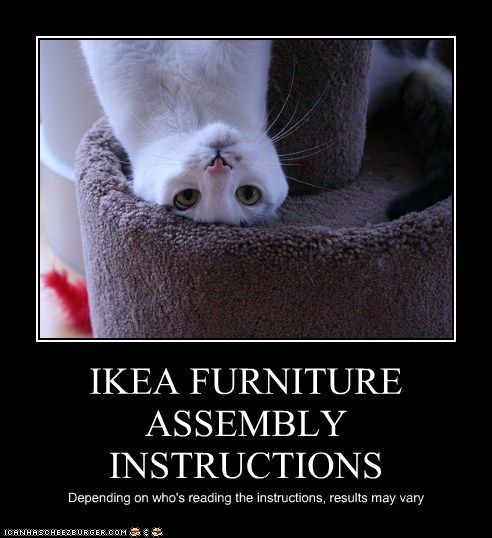 IKEA FURNITURE ASSEMBLY INSTRUCTIONS