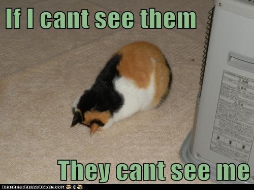 If I cant see them  They cant see me