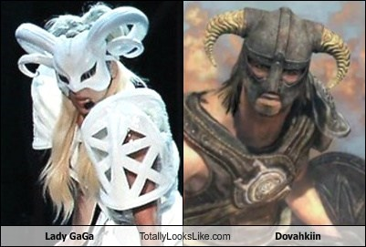 TLL Classic: Lady GaGa Totally Looks Like Dovahkiin (Skyrim)