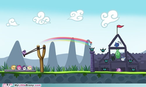 angry birds,angry ponies,crossover,game