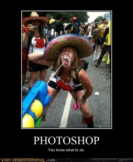 bizarre,hilarious,photoshop,squirt gun