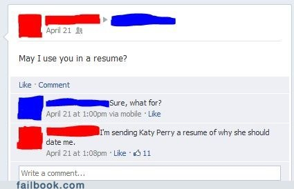 katy perry,funemployment,work history,resume