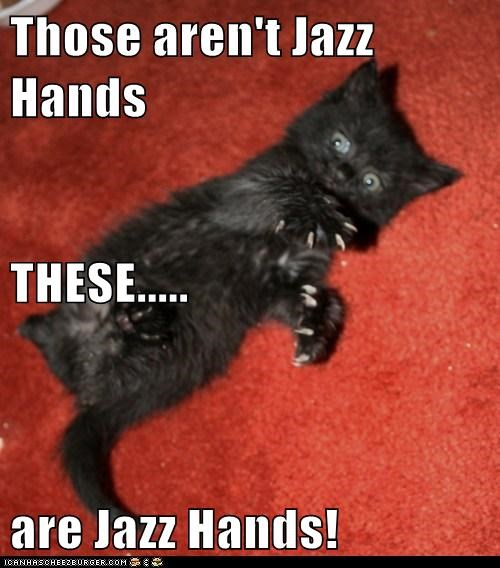 Those aren't Jazz Hands THESE..... are Jazz Hands!