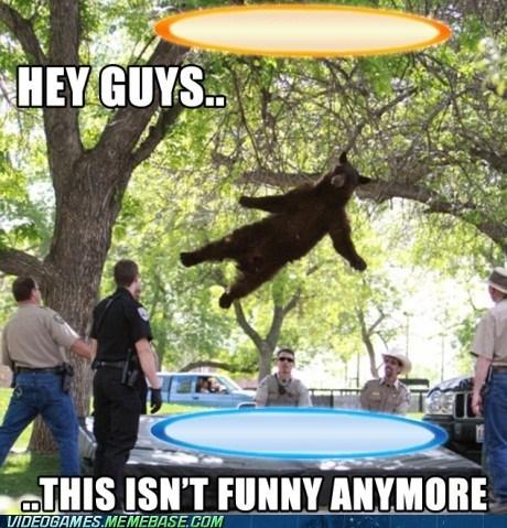 meme,portal 2,Smokey the Bear